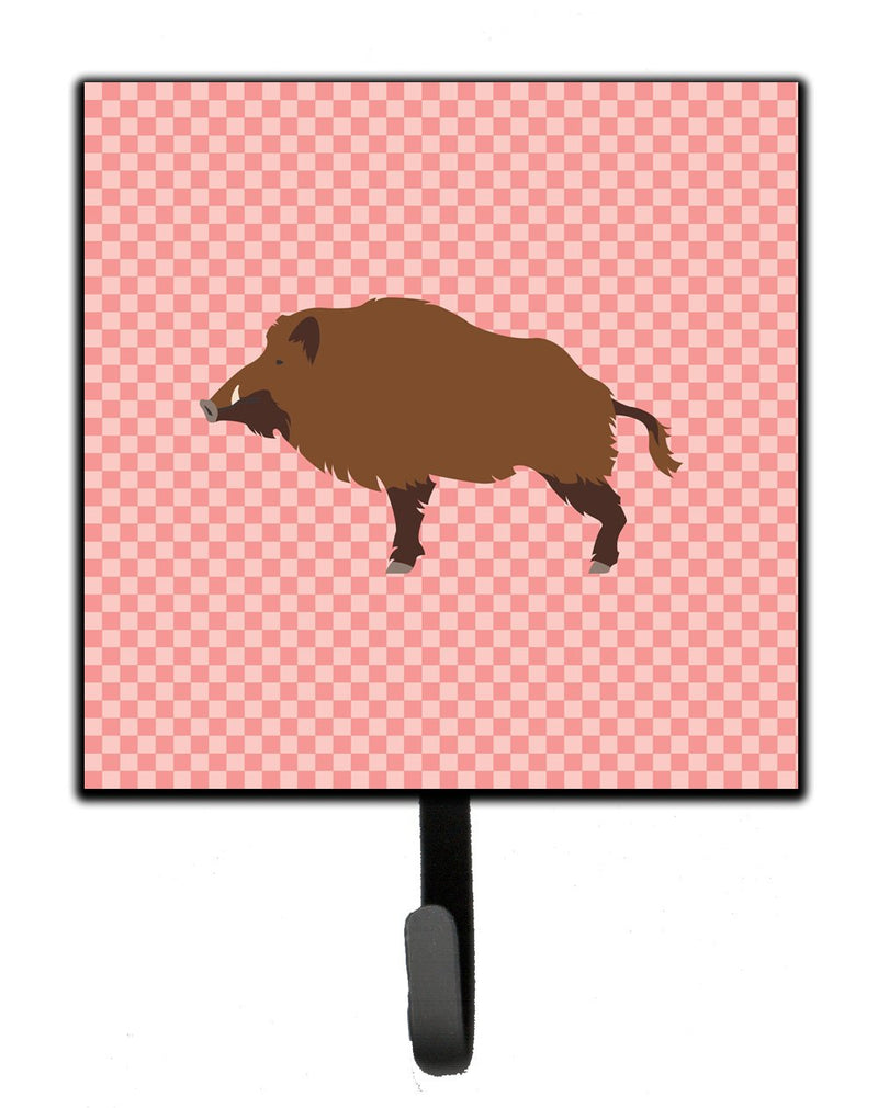 Buy this Wild Boar Pig Pink Check Leash or Key Holder
