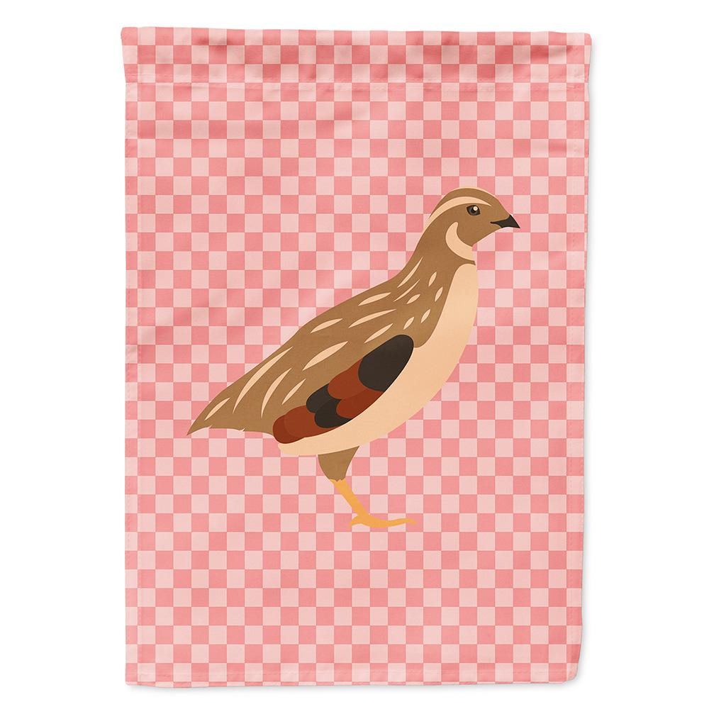 Buy this Golden Phoenix Quail Pink Check Flag Garden Size