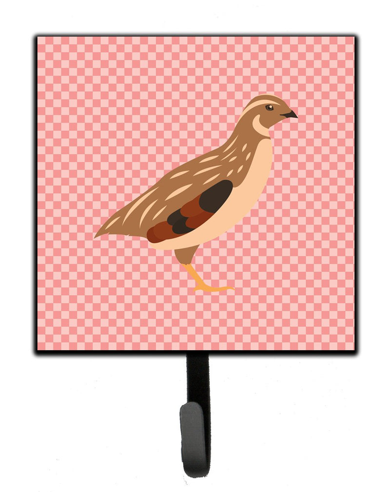 Buy this Golden Phoenix Quail Pink Check Leash or Key Holder