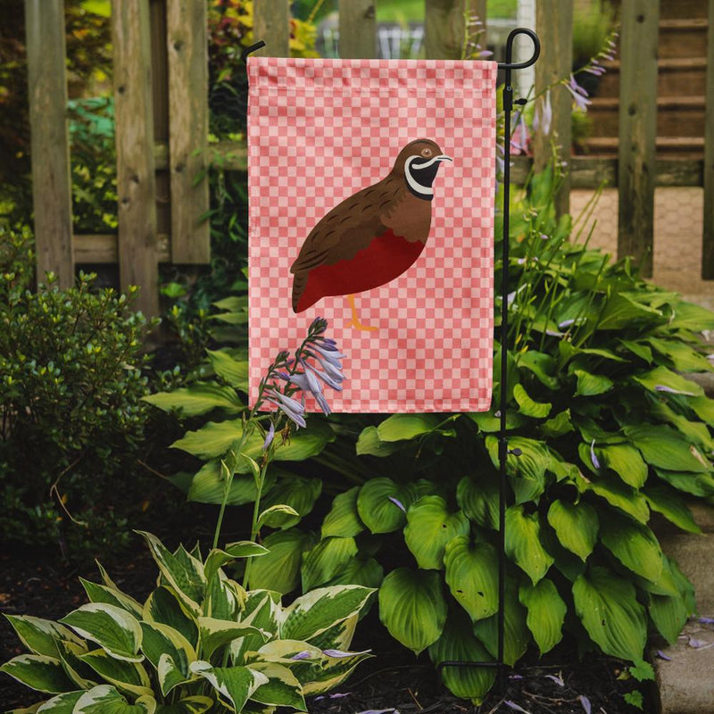 Buy this Chinese Painted or King Quail Pink Check Flag Garden Size