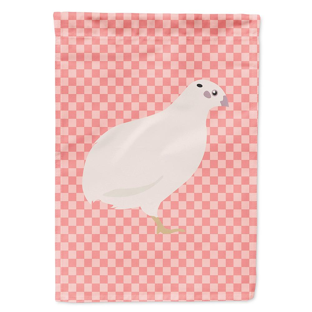 Buy this Texas Quail Pink Check Flag Garden Size
