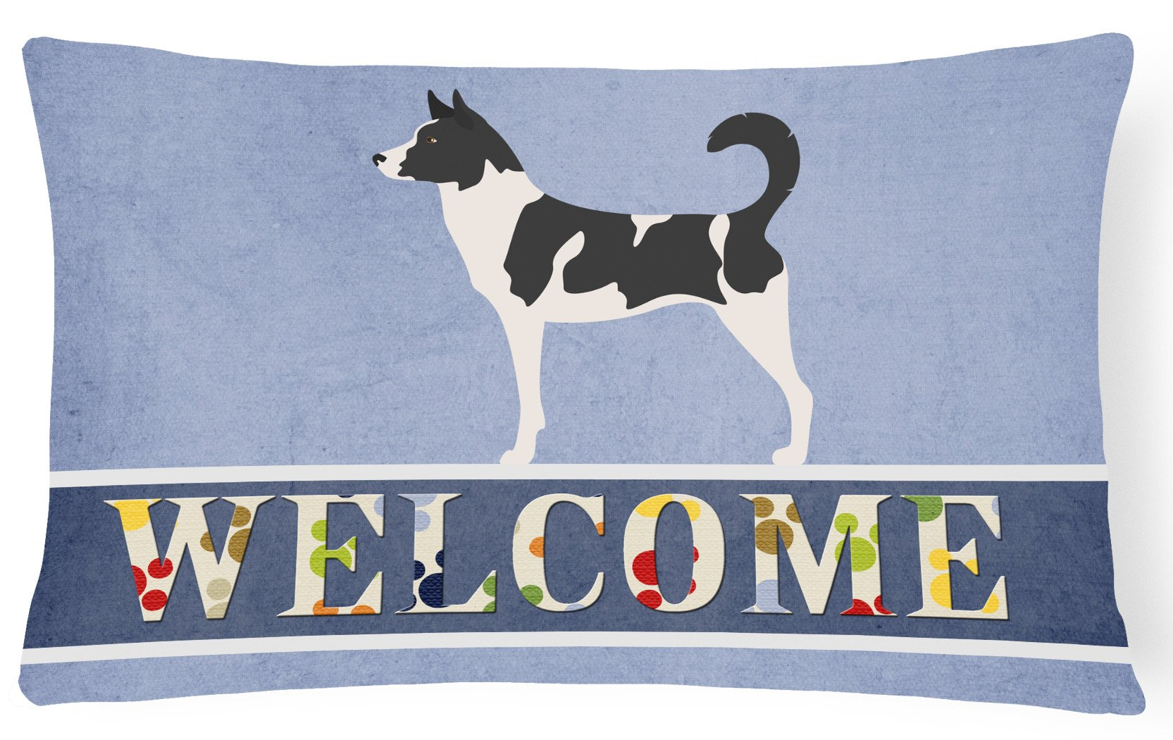 Buy this Canaan Dog Welcome Canvas Fabric Decorative Pillow BB8329PW1216