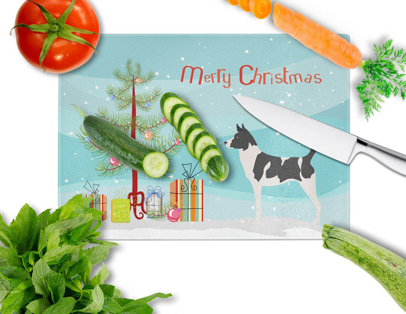 Buy this Canaan Dog Christmas Glass Cutting Board Large BB8491LCB