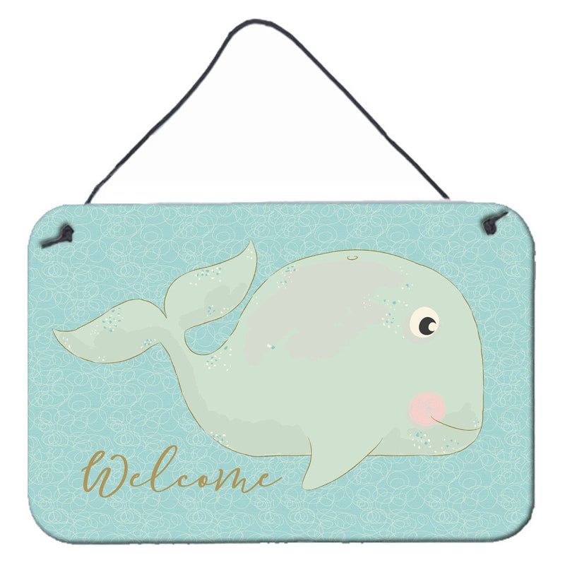 Buy this Whale Welcome Wall or Door Hanging Prints BB8533DS812