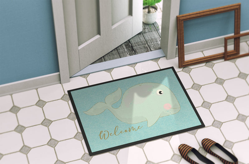 Buy this Whale Welcome Indoor or Outdoor Mat 24x36 BB8533JMAT