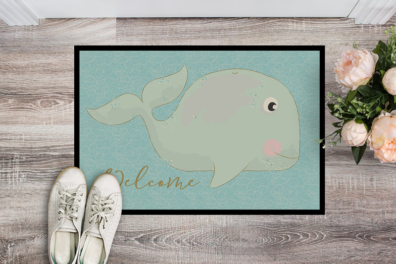 Buy this Whale Welcome Indoor or Outdoor Mat 18x27 BB8533MAT