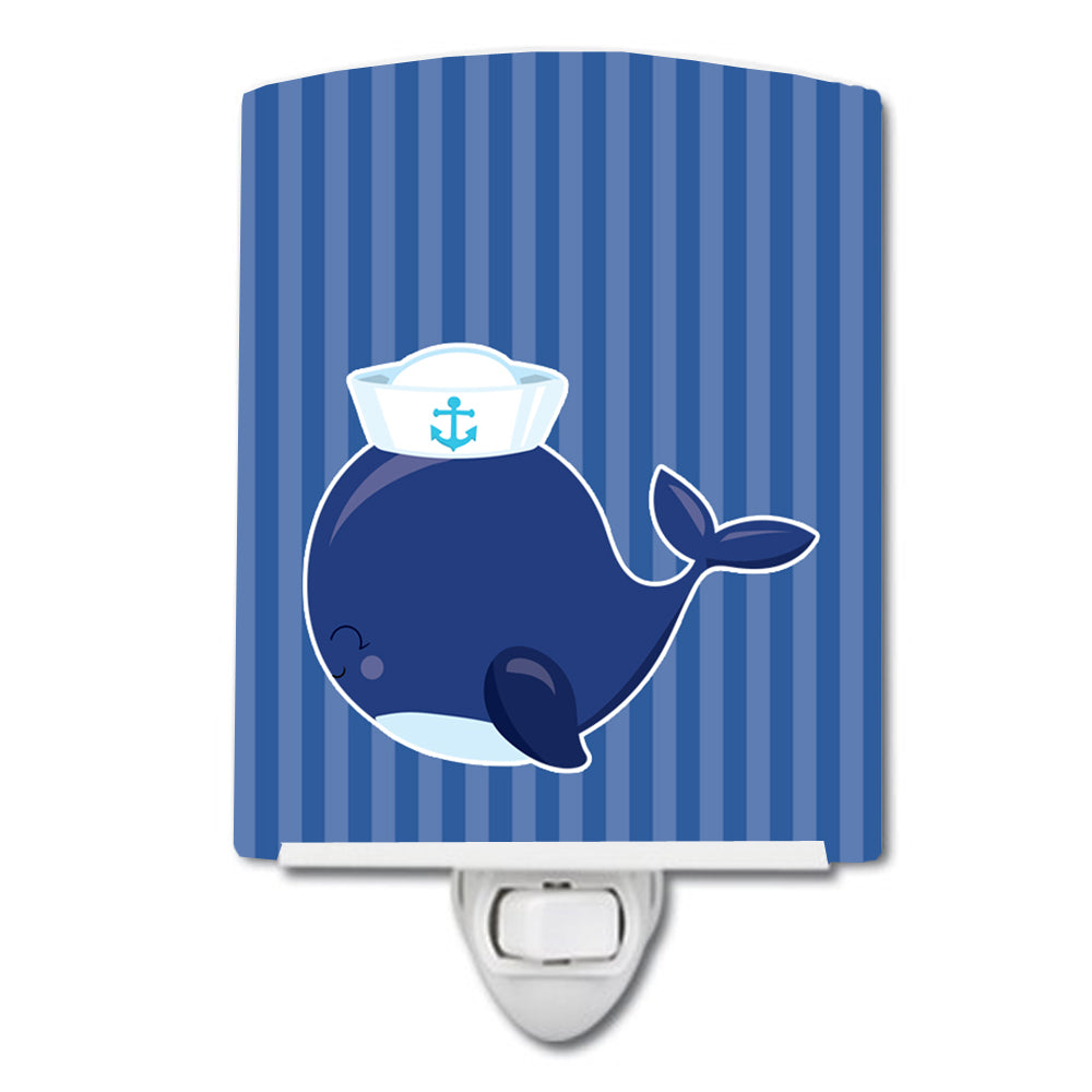 Buy this Nautical Whale Blue Ceramic Night Light BB8884CNL