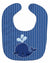 Buy this Nautical Whale Blue Baby Bib BB8885BIB