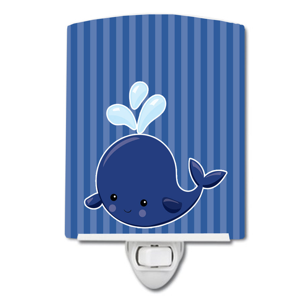 Buy this Nautical Whale Blue #2 Ceramic Night Light BB8885CNL