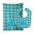 Buy this Nautical Whale #2 Baby Bib & Burp Cloth BB8890STBU
