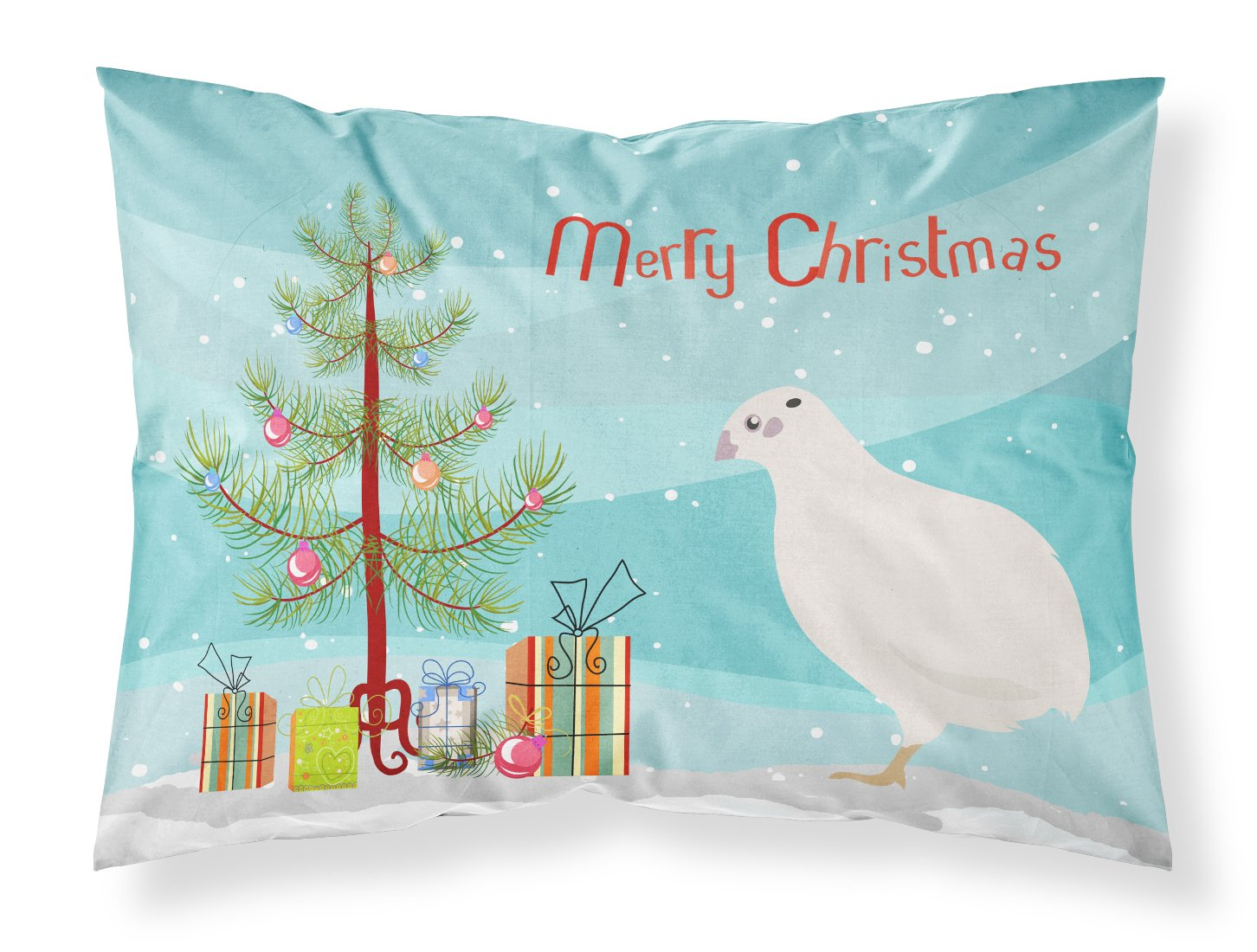 Buy this Texas Quail Christmas Fabric Standard Pillowcase BB9324PILLOWCASE