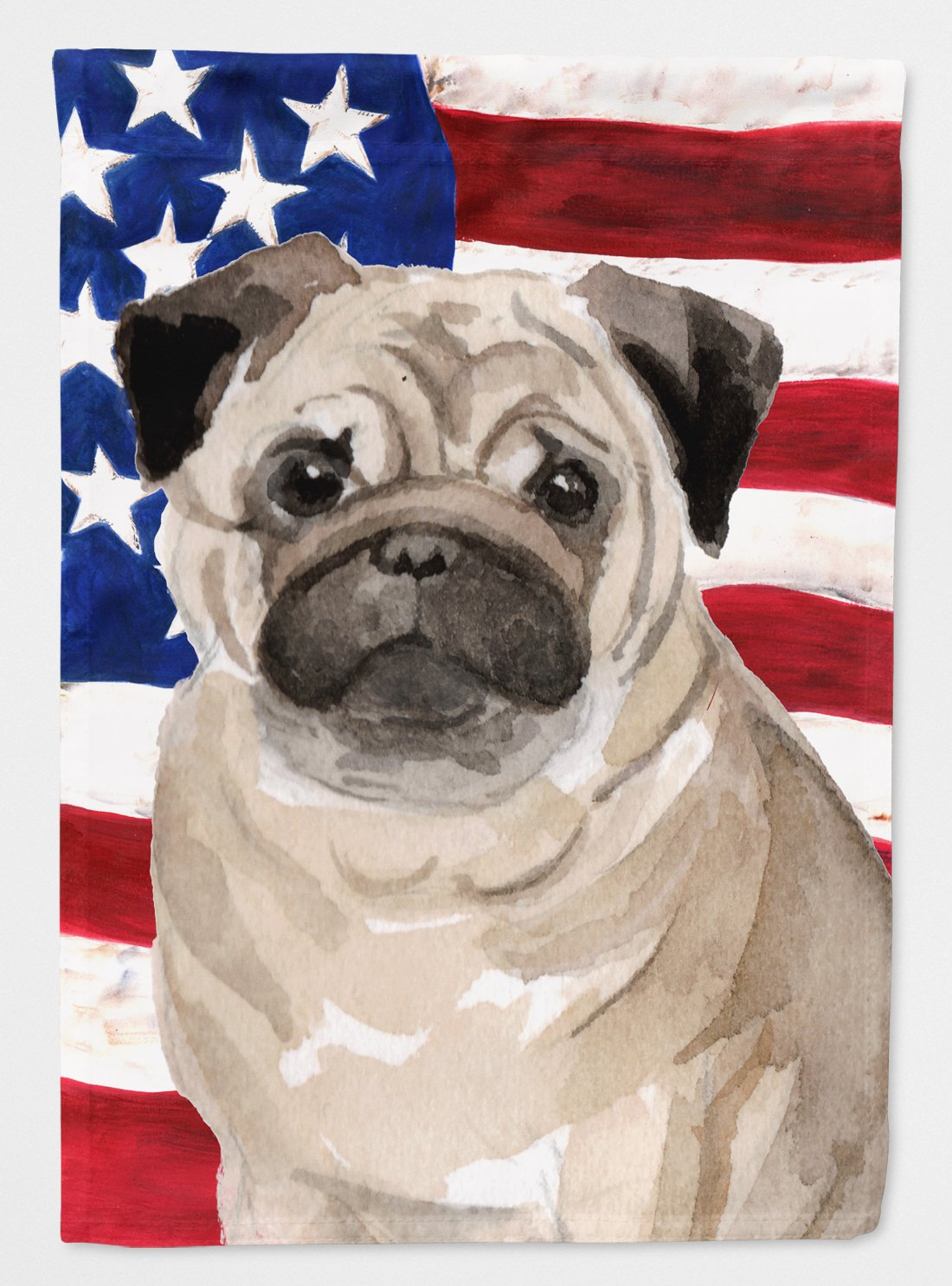 Buy this Fawn Pug Patriotic Flag Garden Size BB9391GF