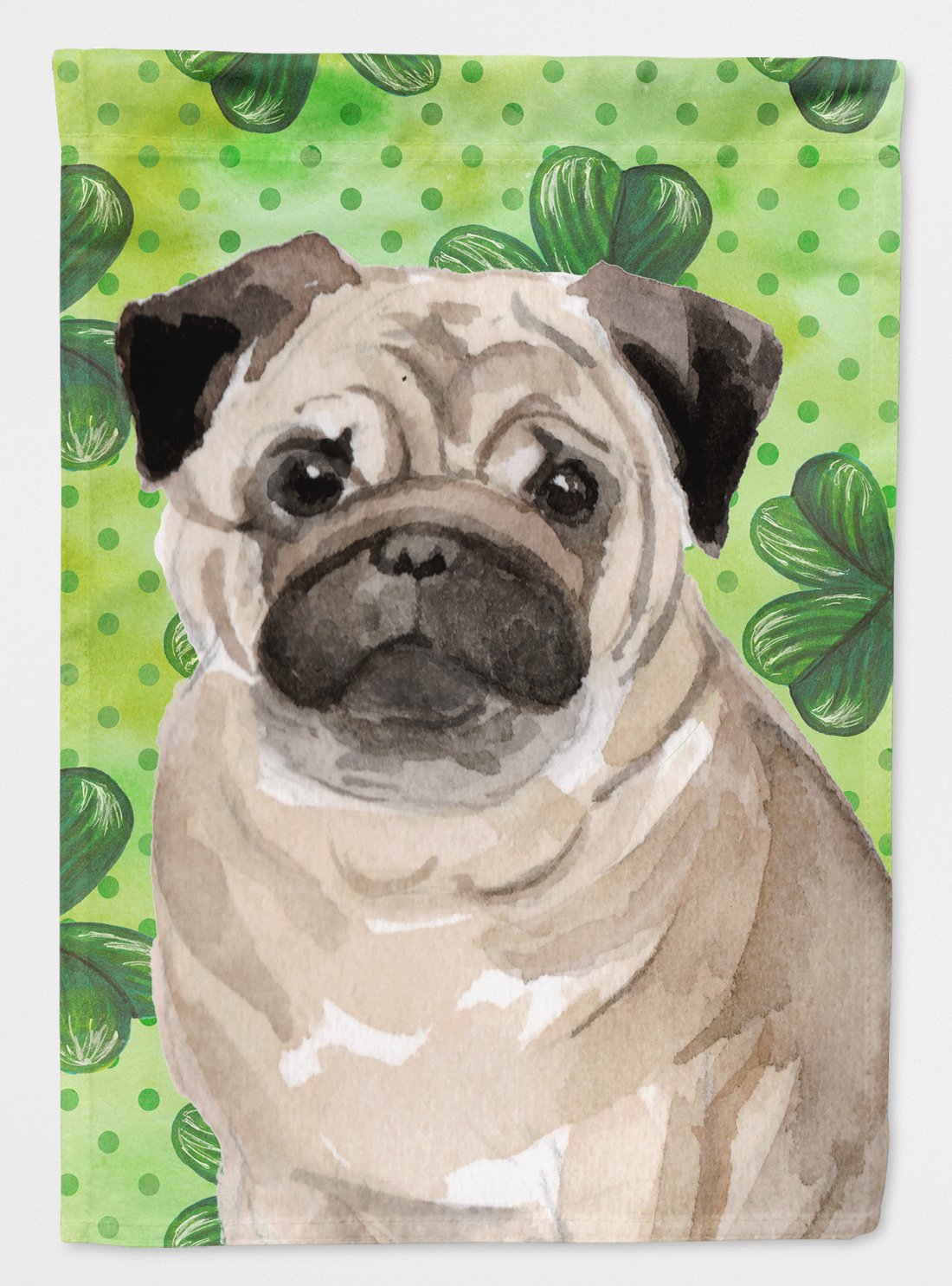 Buy this Fawn Pug St. Patrick's Flag Garden Size BB9566GF