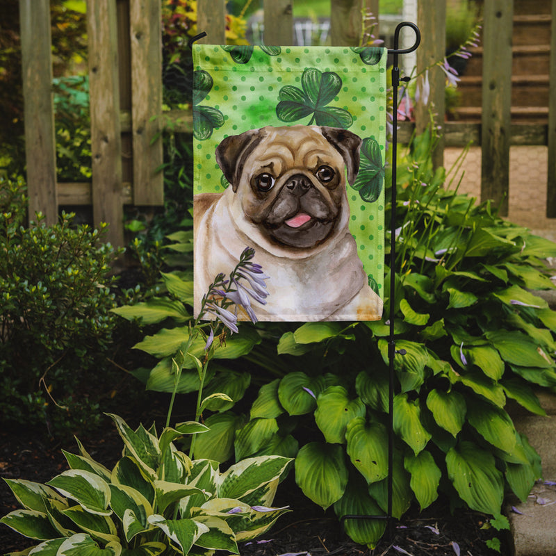 Buy this Fawn Pug St Patrick's Flag Garden Size BB9892GF