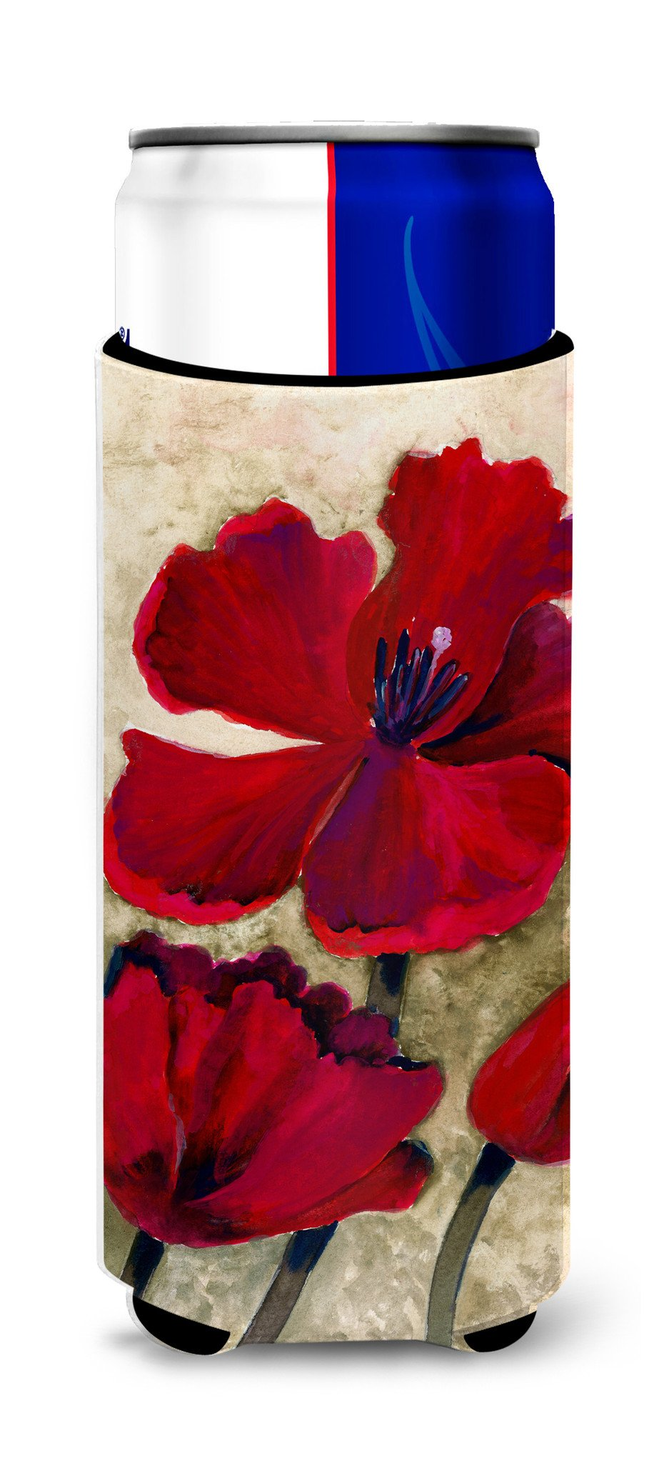 Buy this Red Tulip by Maureen Bonfield Ultra Beverage Insulators for slim cans BMBO0734MUK