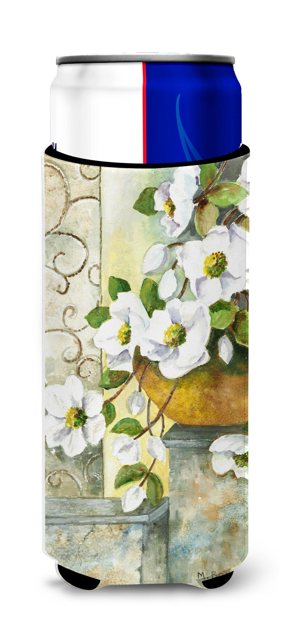 Buy this Dog Rose by Maureen Bonfield Ultra Beverage Insulators for slim cans BMBO0773MUK