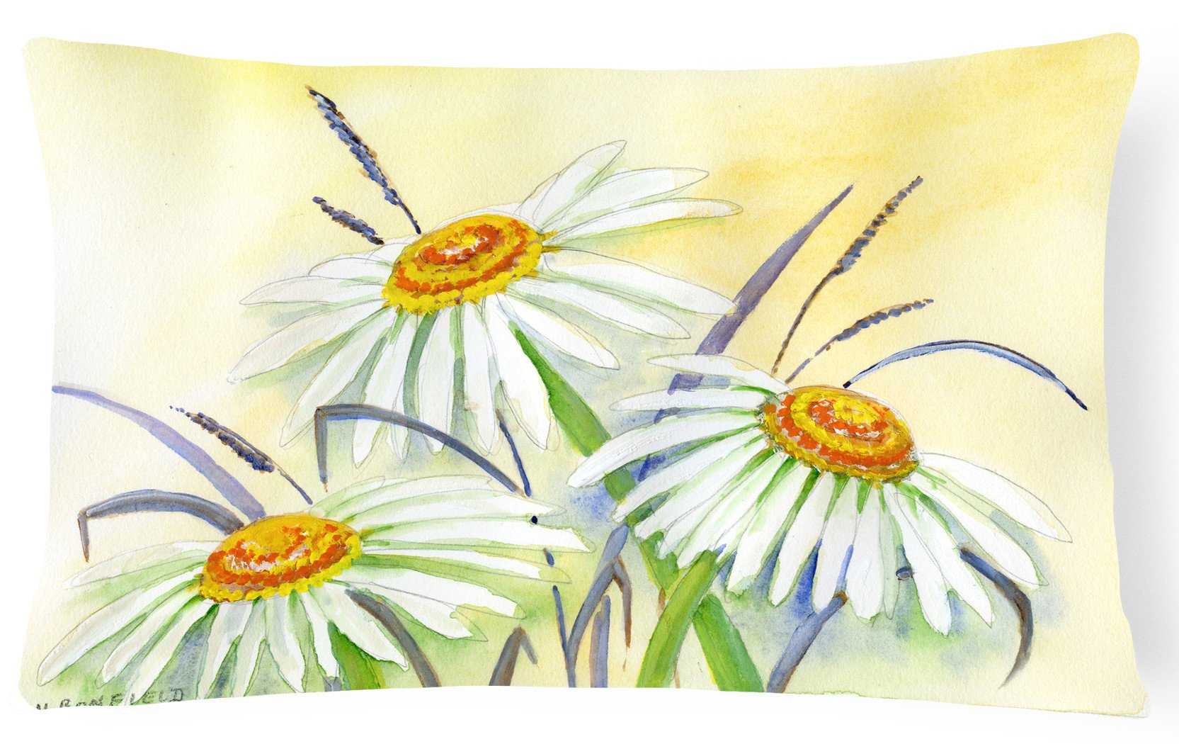 Buy this Daisies by Maureen Bonfield Fabric Decorative Pillow BMBO1108PW1216
