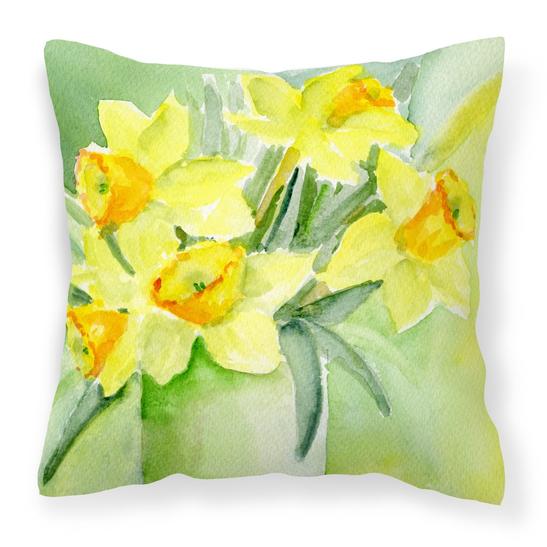 Buy this Daffodils by Maureen Bonfield Canvas Decorative Pillow