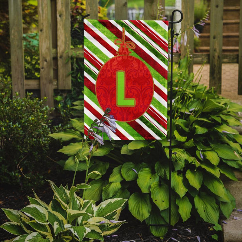 Buy this Christmas Oranment Holiday Letter L Monogram Initial Flag Garden Size CJ1039
