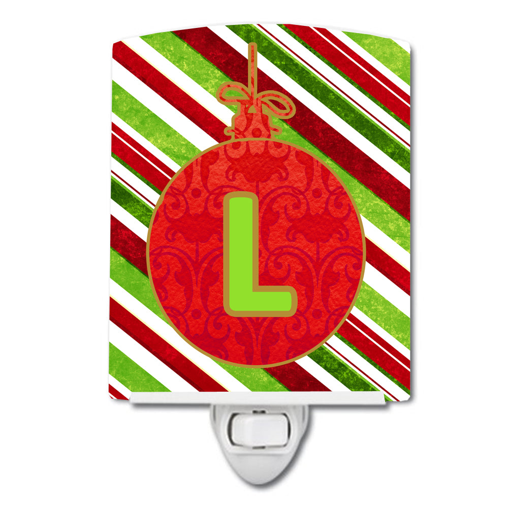 Buy this Christmas Oranment Holiday Initial Letter L Ceramic Night Light CJ1039-LCNL