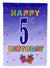 Buy this Happy 5th Birthday Flag Garden Size CJ1096GF