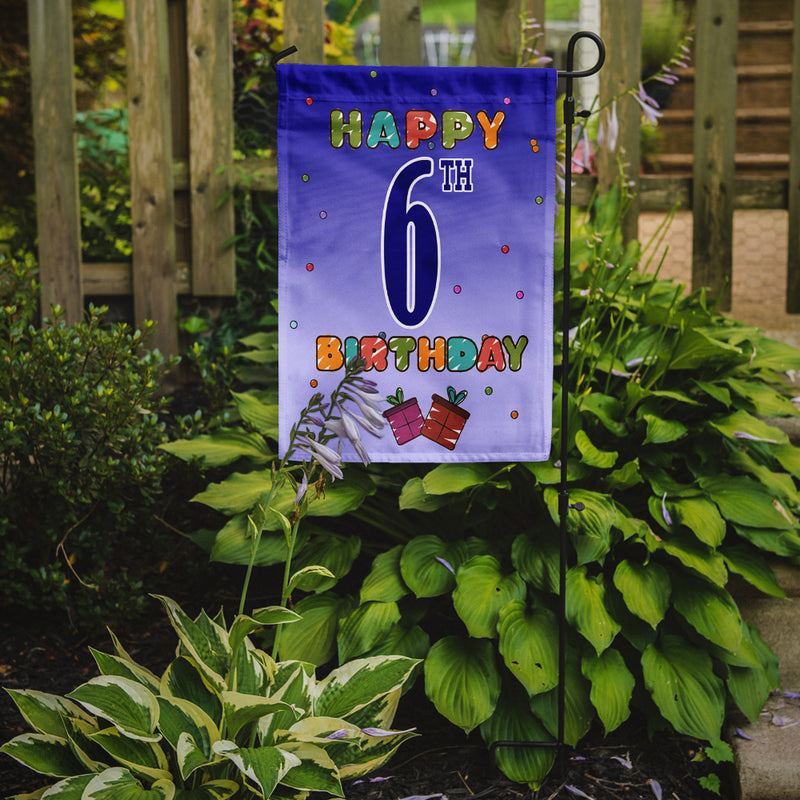 Buy this Happy 6th Birthday Flag Garden Size CJ1097GF
