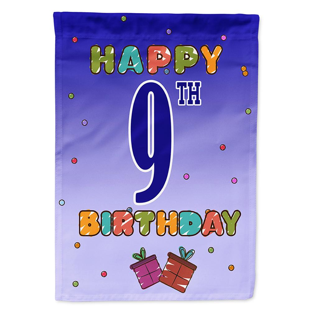 Buy this Happy 9th Birthday Flag Garden Size CJ1100GF