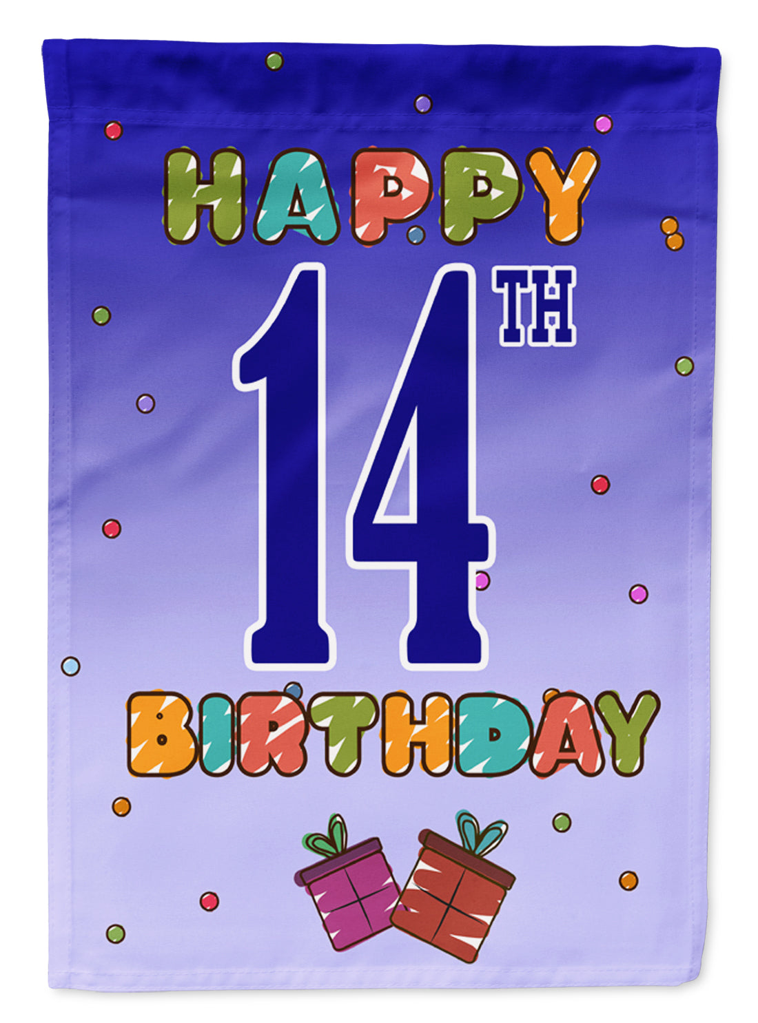 Buy this Happy 14th Birthday Flag Garden Size CJ1105GF