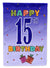 Buy this Happy 15th Birthday Flag Garden Size CJ1106GF