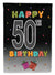 Buy this Happy 50th Birthday Flag Garden Size CJ1124GF