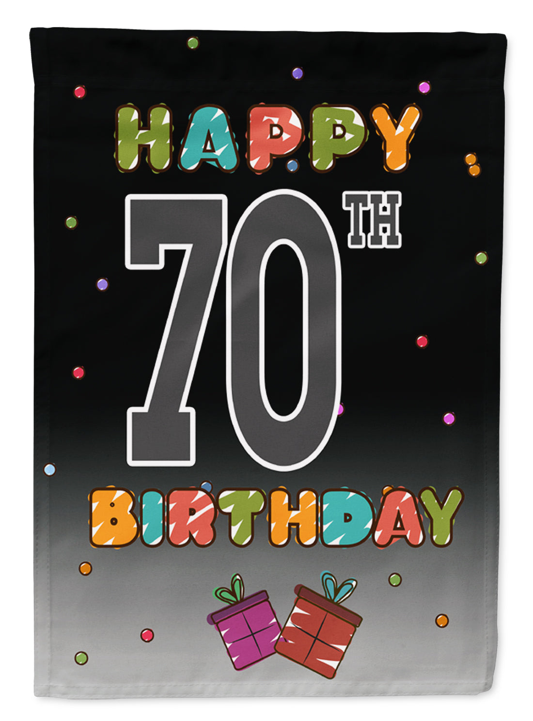 Buy this Happy 70th Birthday Flag Garden Size CJ1126GF