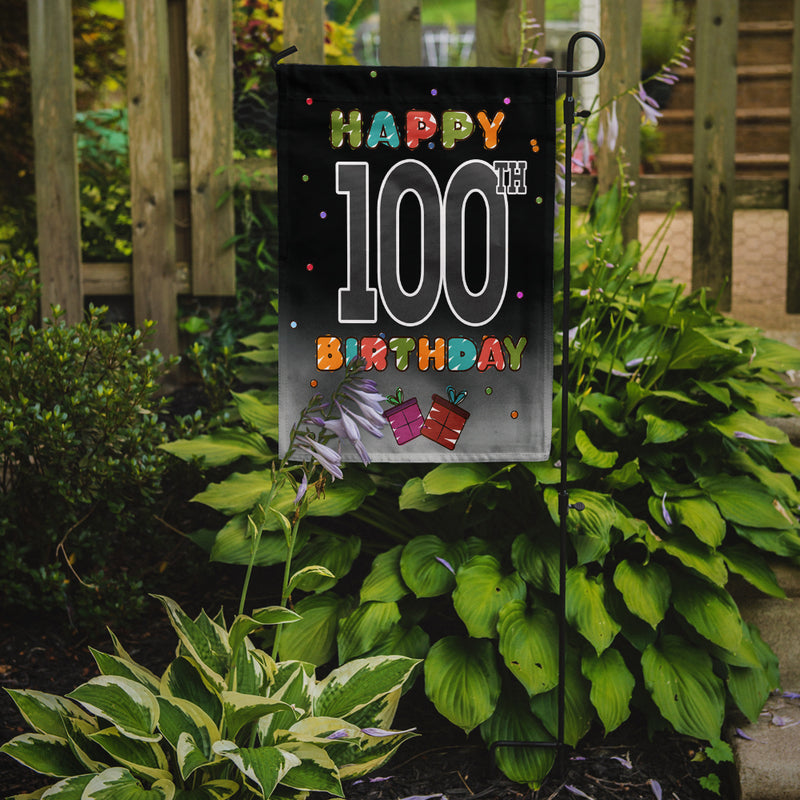 Buy this Happy 100th Birthday Flag Garden Size CJ1129GF