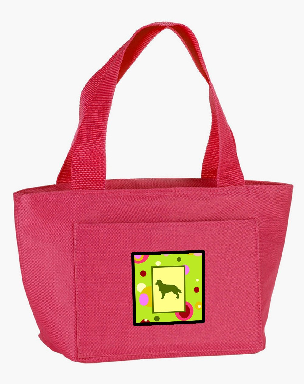 Buy this Lime Green Dots Flat Coated Retriever  Lunch Bag CK1031PK-8808