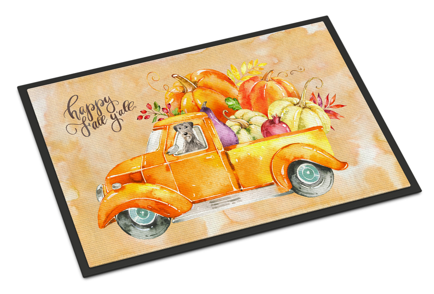 Buy this Fall Harvest Irish Wolfhound Indoor or Outdoor Mat 18x27 CK2621MAT