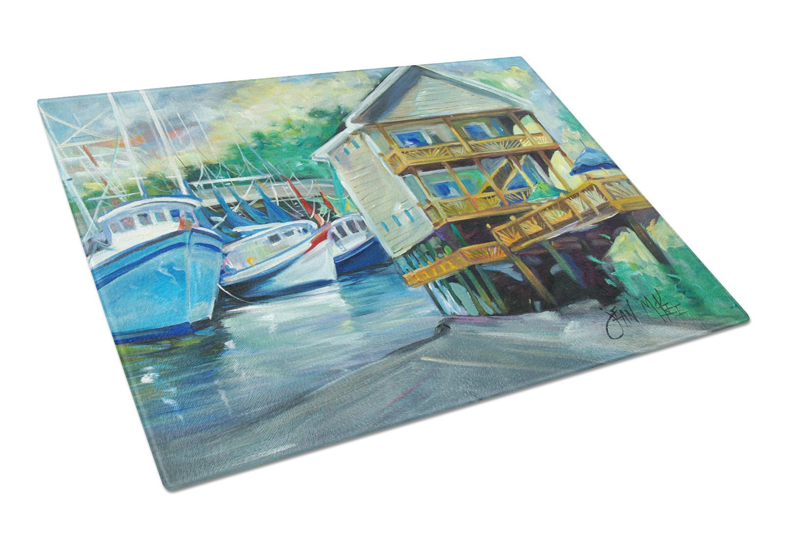 Buy this Ocean Springs Harbour Landing Glass Cutting Board Large JMK1069LCB