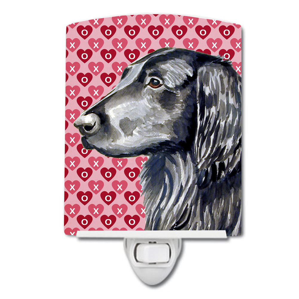 Buy this Flat Coated Retriever Hearts Love and Valentine's Day Portrait Ceramic Night Light LH9141CNL
