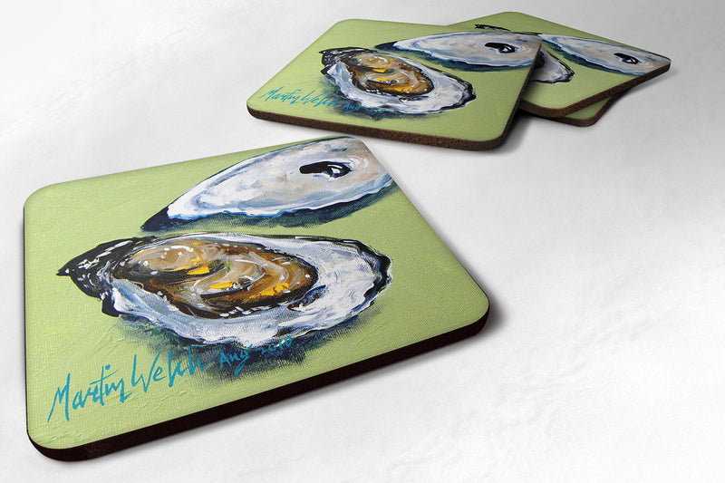 Buy this Set of 4 Oyster Two Shells Foam Coasters