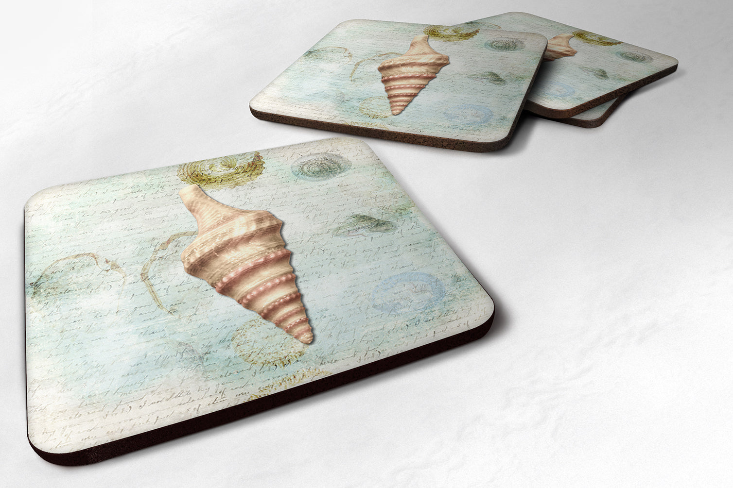 Buy this Set of 4 Shells  Foam Coasters