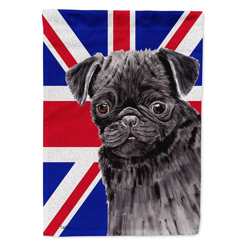 Buy this Pug with English Union Jack British Flag Flag Garden Size