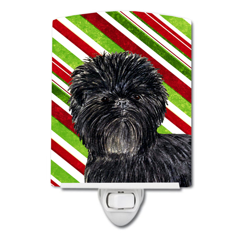 Buy this Affenpinscher Candy Cane Holiday Christmas Ceramic Night Light SS4580CNL