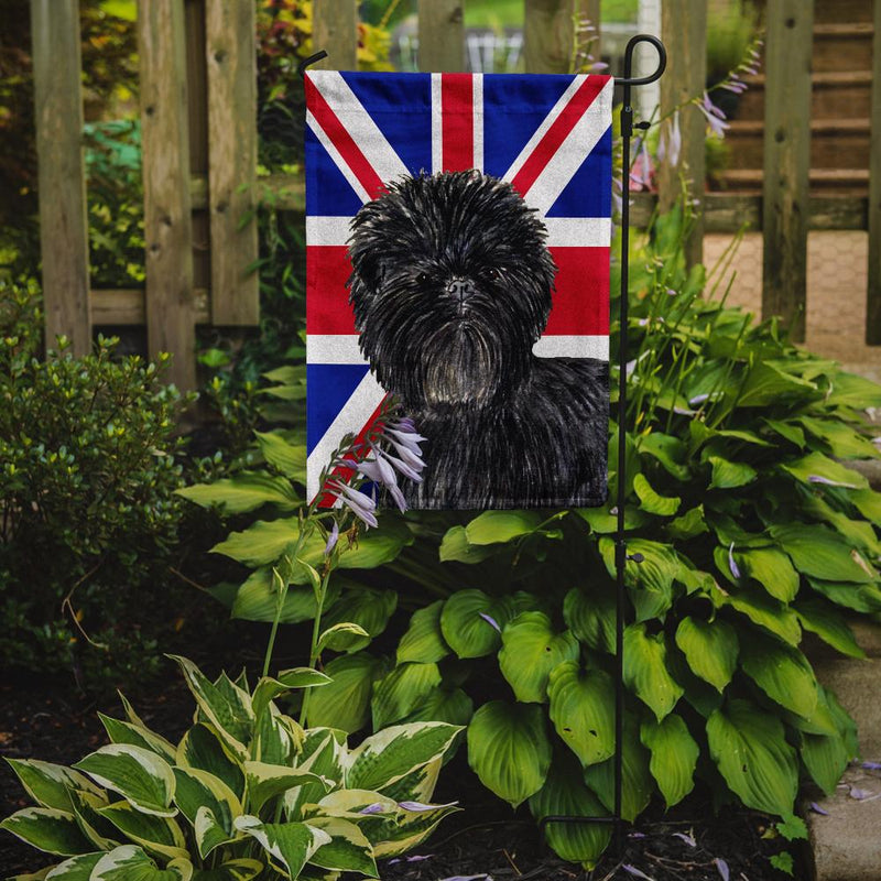Buy this Affenpinscher with English Union Jack British Flag Flag Garden Size SS4953GF