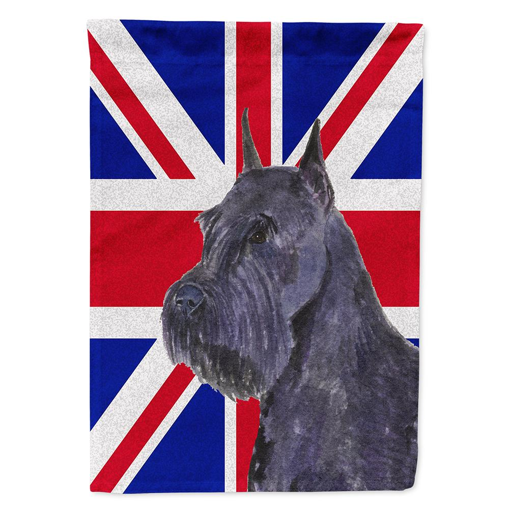 Buy this Schnauzer with English Union Jack British Flag Flag Garden Size
