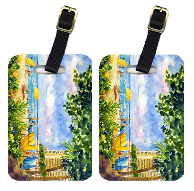 Buy this Pair of 2 Beach Resort view from the condo  Luggage Tags