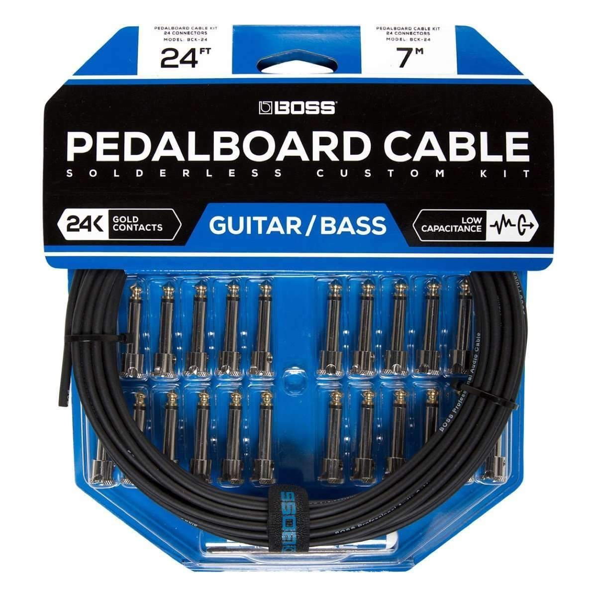 Industrie Music,Boss BCK-24 DIY Pedalboard Cable Kit - 24' Cable, 24 Connectors