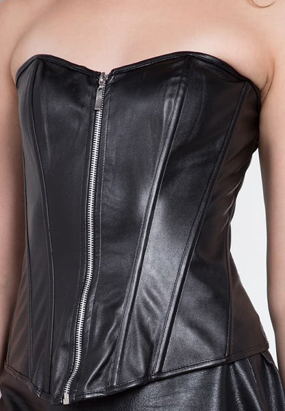 #2803 Zip-On Leather Corset