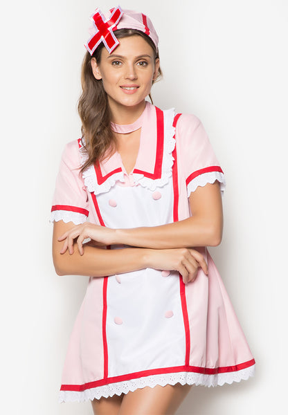 #5007 Love Ward Vocaloid Hatsune Miku Nurse Cosplay Costume