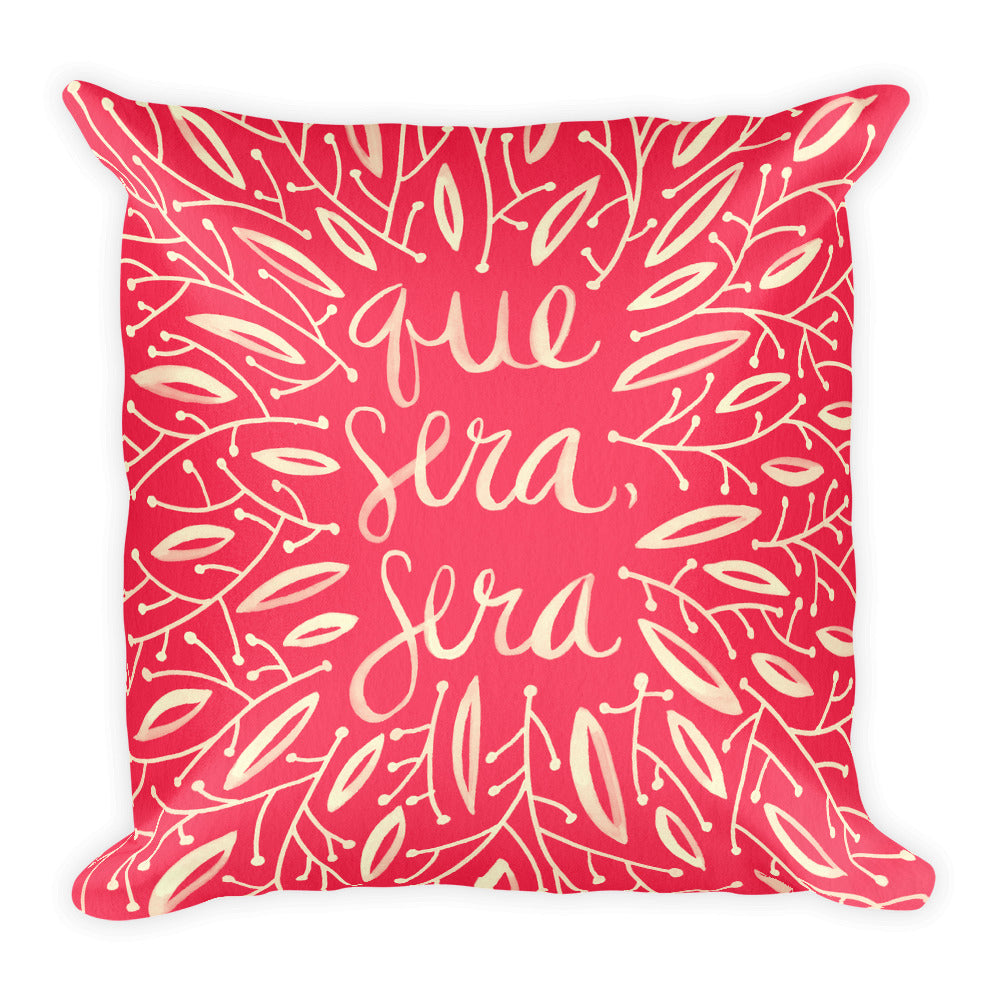 Whatever Will Be, Will Be – Illustrated Melon Palette • Square Pillow