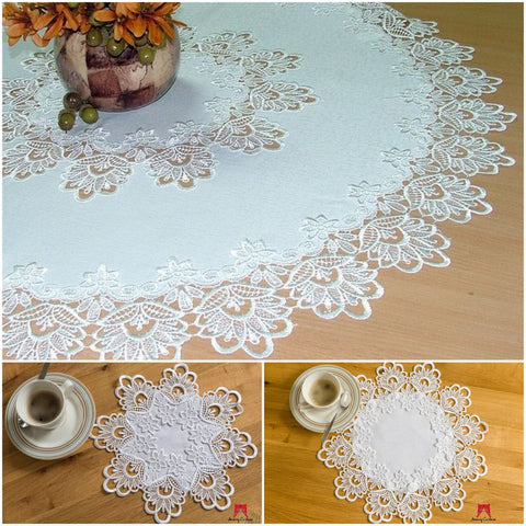 High Quality Round Tablecloth with Lace - Amazing Curtains