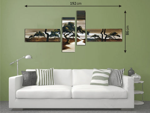 Canvas Multi Panels Landscape Brown - Amazing Curtains