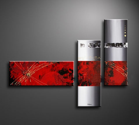 3pcs Abstract Canvas Panels - Amazing Curtains